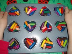 Homemade Valentine Week: You Melt My Heart Crayons