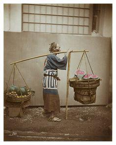 Watermelon vendor, c. 1875 by Raimund von Stillfried-Rathenitz
