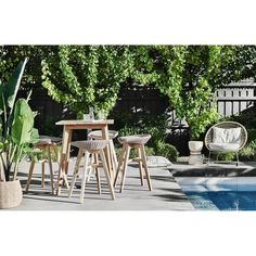 BAR STOOL | noosa design in white or natural by globewest
