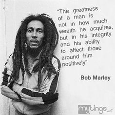 Bob Marley. At the height of his fame, he went back to Jamaica and was feeding 4,000 homeless people per day.