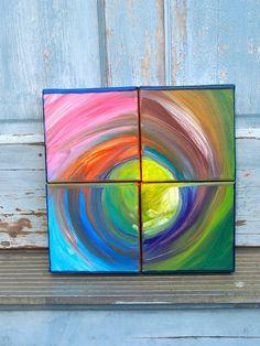 Motion Mandala painting by poppyart on Etsy - Heart fs