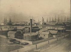 Old photos of Melbourne and suburbs — The Williamstown Gasworks, year unknown.