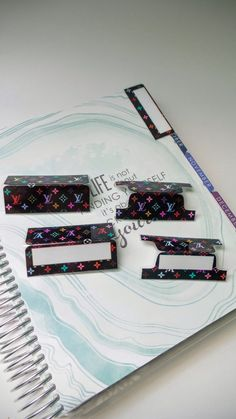 Check out this item in my Etsy shop https://www.etsy.com/listing/481917847/custom-planner-tabs-laminate-tabs
