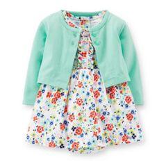 Carter's® Short-Sleeve Bodysuit Dress and Cardigan Set – Girls newborn-24m  found at @JCPenney