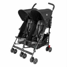 Maclaren Twin Triumph Black/Charcoal - available in store and online at #FabBabyGear #Maclaren