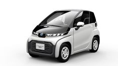 toyota has unveiled an ultra-compact, electric car concept intended for short-distance trips, including a new business model that works as a mobile office. Smart Fortwo, Small Electric Cars, Electric Car Concept, Electric Vehicle, Electric Trike, Urban Electric, Compact, Ev Charging Stations, Fuel Cell Cars