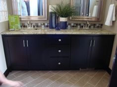 a large espresso vanity from Tom's Cabinets Inc. www.tomscabinetsinc.com
