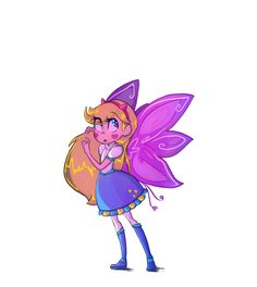 I sincerely hope this is what Star looks like with her full grown Mewberty wings. This is so pretty.