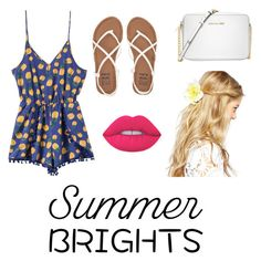 """Summer Brights"" by kmccusker16 on Polyvore featuring Billabong, Michael Kors, ASOS and Lime Crime"