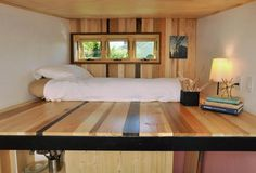 Toybox tiny home, tiny house, tiny home, toybox home, modern tiny home, LED, transforming furniture, spacesaving design, blown in blanket insulation, radiant floor heating,