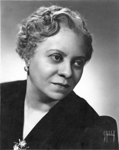 """Symphonic Composer Florence Price, 1930s. Considered to be the 1st recognized African American female symphonic composer. Price published two of her spiritual arrangements, """"I Am Bound for the Kingdom,"""" and """"I'm Workin' on My Buildin',"""" and dedicated them to the black contralto Marian Anderson, who performed them on a regular basis."""