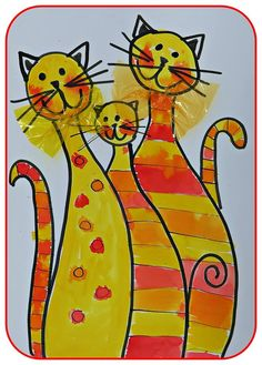 three little kittens have lost their mittens Art Drawings For Kids, Drawing For Kids, Painting For Kids, Art For Kids, Animal Art Projects, Animal Crafts, Newspaper Art, Classroom Art Projects, Art Plastique