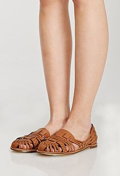 Faux Leather Huarache Flats - Womens shoes and boots Clothes Encounters, Shoes Heels, Flats, Vegan Shoes, Boot Shop, Pretty Shoes, Huaraches, Summer Shoes, Footwear