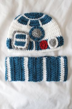 PATTERN for crochet baby hat inspired by R2D2 by HappyJourneys