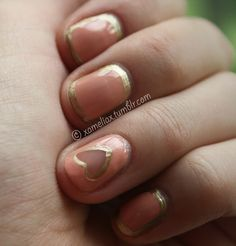 .♥. amelia paints nails .♥.: .Sugared Almonds with Negative Space.