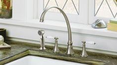 Elegant Metal And Ceramic Kitchen Faucest Best Kitchen Faucest Materials