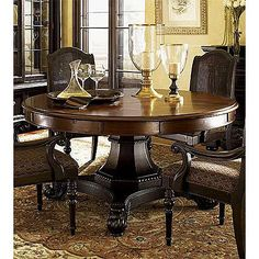 Tommy Bahama Kingstown Bonaire Round Extension Dining Table..Please go on sale so i can buy you...
