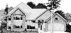 Builders and homeowners love the simple elegance of this homeplan.  With a formal living and dining room, as well as a large family room, this plan easily accomodates big family gatherings.  Notice the oversized bedrooms and overall good use of space.  The attention to detail starts with the beautiful exterior, then moves to the heart of the