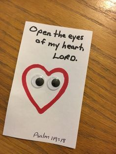 Open The Eyes Of My Heart Lord Sunday School Crafts For Kids
