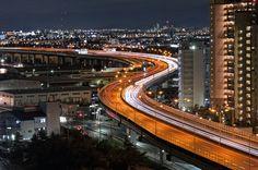 阪神高速4号湾岸線 Hanshin Expressway,Bayshore Route by hiroshi ookura