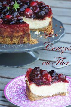 Los cerezos en flor: Colaboración en la Revista Whole Kitchen, un queso, una deliciosa Tarta de Queso con topping de Cerezas y adiósssssssss!!!!!