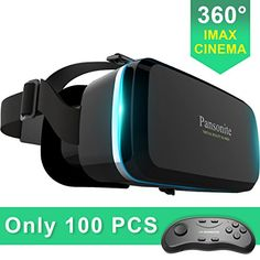 Get FREE shipping on Pansonite Virtual Reality VR Headset 3D Glasses With Remote Controller- Best Immersive Experience for Gaming, Movies & Video-Adjustable Lenses & Strap For IOS/Android Smartphones today.   in the picture:Pansonite Virtual Reality VR Headset 3D Glasses With Remote...