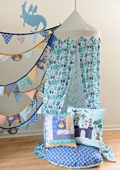 Reading Nook Tent featuring Brave fabric by Hawthorne Threads