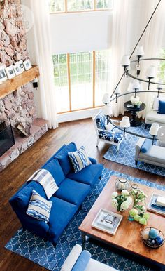 Nautical Style Waterfront Cottage via Style At Home