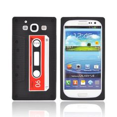 Samsung Galaxy S3 Silicone Case - Black Cassette Tape. Does anyone else remember what this is? Man...dating ourselves...$9.99