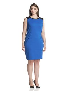 7767b496a77 Plus Size Workwear Picks - Calvin Klein Colorblock Dress Plus Size  Workwear