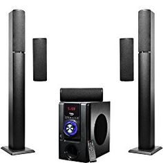 5.1 Surround Sound Home Theater Speakers SystemFrisby FS-6500BT Tower 5.1 Surround Sound Home Theater Speakers System with Bluetooth USB/SD/AUX and RemoteWith Frisby FS-6500BT Bluetooth Wireless 5.1 Channel Home Theater System, your home music options have never been better. The Frisby FS-6500BT optimizes bluetooth technology to achieve the best quality in-home audio experience possible.   #Accessories #Computer #Home Audio