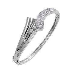 Micro Pave Bracelet Clear Simulated CZ .925 Sterling Silver * Read more reviews of the product by visiting the link on the image.