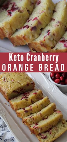 Keto Low Carb Cranberry Orange Bread Recipe (Quick & Easy) This Keto Cranberry Orange Bread is a staple at our house. It's so moist, delicious, and perfect the perfect low carb breakfast or keto dessert with a cup of hot coffee. Keto Desserts, Keto Snacks, Dessert Recipes, Holiday Desserts, Recipes Dinner, Snack Recipes, Protein Desserts, Keto Dessert Easy, Turkey Recipes