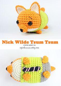 PATTERN: Nick Wilde Zootopia Tsum Tsum Crochet por epickawaii