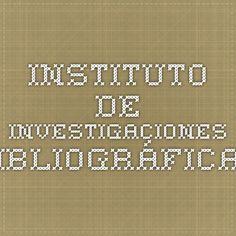 Instituto de Investigaciones Bibliográficas