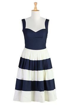 eShakti - BM dress for lake cruise or nautical wedding