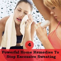 There are plenty of home remedies to stop sweating that you can begin implementing today with items you'll find in your house or just acro. Stop Sweating, Excessive Sweating, Health Remedies, Home Remedies, Natural Remedies, Holistic Remedies, Health And Beauty Tips, Health Tips, Remove Skin Tags Naturally