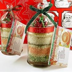 "Friendship Soup Mix in a Jar | ""I received a jar of this from a friend at Christmas. I used ground Italian sausage instead of the ground beef!! Yummmmmmmm!!!!!"""