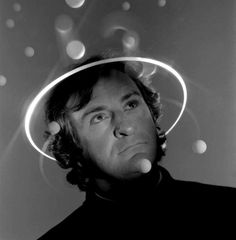 """Today in Geek History: Douglas Adams, author of the Hitchhiker's Guide to the Galaxy, was born in """"I may not have gone where I intended to go, but I think I have ended up where I needed to be. The Hitchhiker, Hitchhikers Guide, Douglas Adams, Hoopy Frood, Guide To The Galaxy, Media Images, Talk To Me, Illusions, Portrait Photography"""