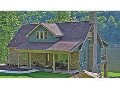THIS IS A GOOD ONE AND NOT TOO BIG!! Craftsman with Basement Walk-Out Perfect For Lakefront (HWBDO75931) | Craftsman House Plan from BuilderHousePlans.com