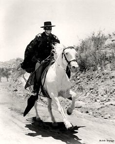 "Zorro tv series | Zorro"" (1957) TV Series.    Zorro also had his white horse."