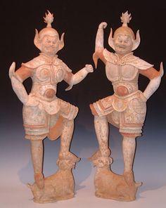 China, Tang Dynasty, Lokapala 618-907 AD Taoism, Buddhism, Chuang Tzu, Tibet Art, Sculptures, Lion Sculpture, Ceramic Figures, China Art, Buddhist Art
