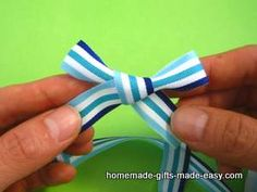 Easy ribbon bow tying instructions that will make your gift wrapping look fabulous. Learn how to make ribbon bows and how to tie a ribbon perfectly.
