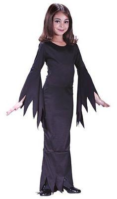 Girls Morticia Addams Family Medium Halloween Costume by Fun World,