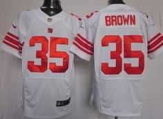 Nike New York Giants #35 Andre Brown White Elite Jersey