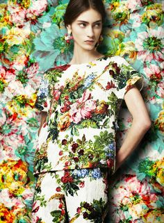 Dolce and Gabanna florals A/W 2014/2015