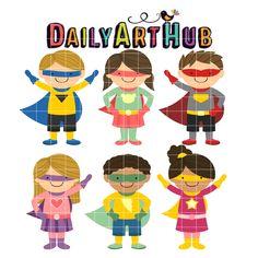 Superhero Kids Clip Art - Great for Art Class Projects! Craft App, Superhero Kids, Art Hub, Classroom Crafts, Class Projects, Vinyl Cutting, Cartoon Kids, Digital Stamps, Clipart
