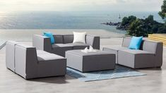 Toft Five Ways Outdoor Fabric Lounge System - Lavita Furniture Outdoor Lounge, Outdoor Living, Outdoor Decor, Space Australia, Modular Lounges, Cell Structure, Sunbrella Fabric, Sit Back And Relax, Mold And Mildew