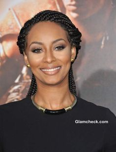 "Keri Lynn Hilson Jaw-dropping in Cornrow Hairdo at ""Riddick"" World ..."