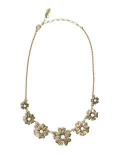 Camellia White Opal Necklace by Pilgrim available at Chic Peek